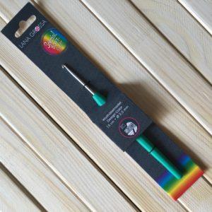 Крючки Lana Grossa алюминий с мягкой цветной ручкой